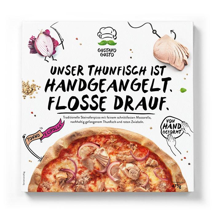 Tiefkühlpizza Thunfisch Gustavo