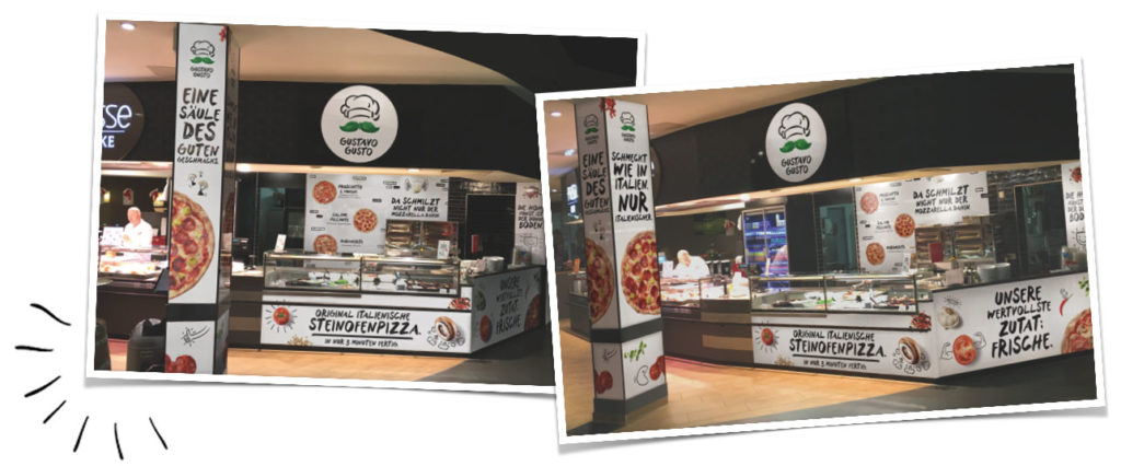 Gustavo Gusto Stand Supermarkt