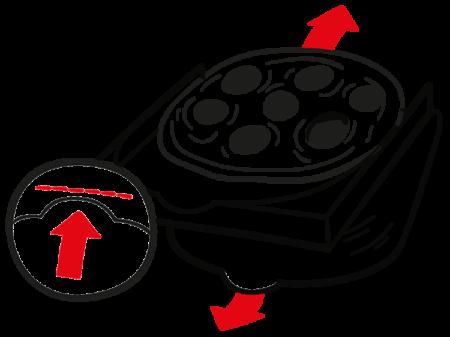 Pizzakarton Teller