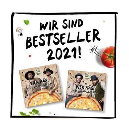 Vier Käse Bestseller Award 2021 Gustavo Gusto Kopie